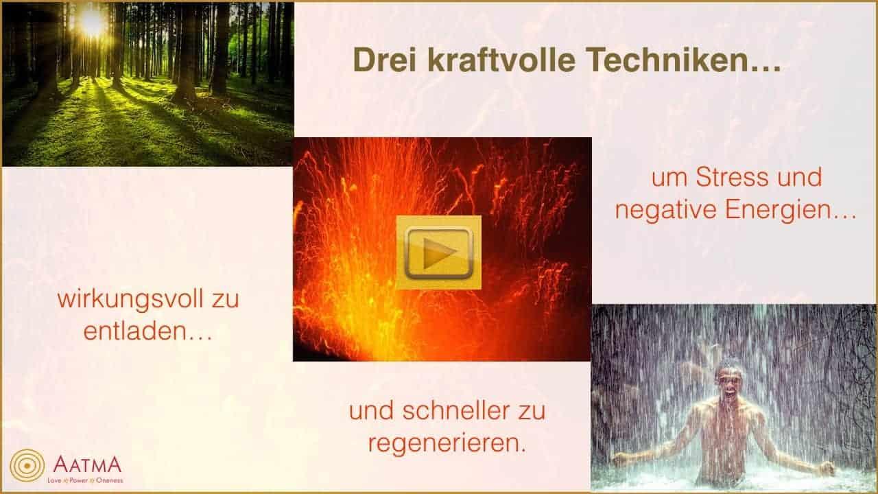 Videocover - drei Techniken, um Stress und Negativität wirkungsvoll zu entladen.