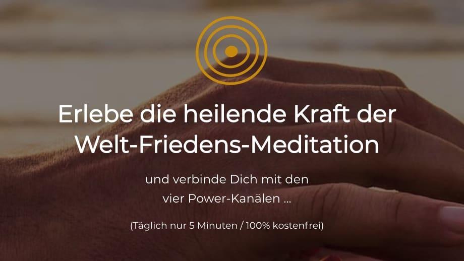 Einladung zur regelmaessigen Weltfriedensmeditation